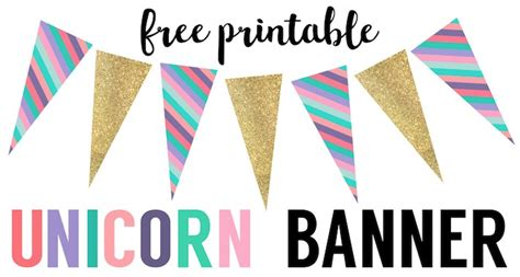 printable birthday banner unicorn birthday banner free printable paper trail design