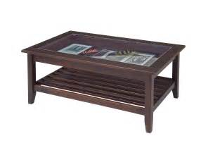 Coffee Table With Glass Top Glass Top Display Coffee Table Furniture Manchester Wood