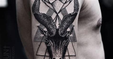 geometric goat tattoo geometric goat tattoo geometric tattoos pinterest