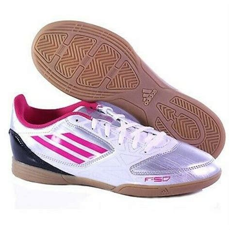 adidas f5 in g61539 s indoor soccer shoes pink silver 10 m ebay