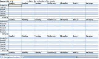 meal plan template excel monthly meal planner template