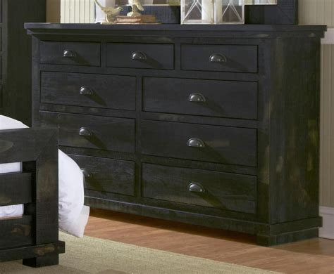 willow distressed black upholstered bedroom set p612 34