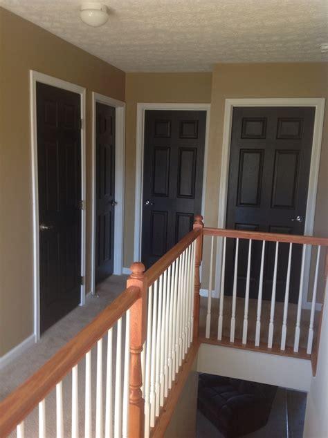 black doors white trim pop paint color ideas