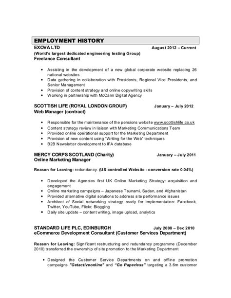 marketing resume sle pdf 28 freelance marketing resume marketing resume exles 50
