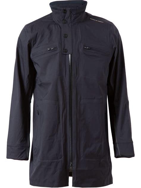 porsche design nylon jacket lyst porsche design lightweight nylon coat in black for men