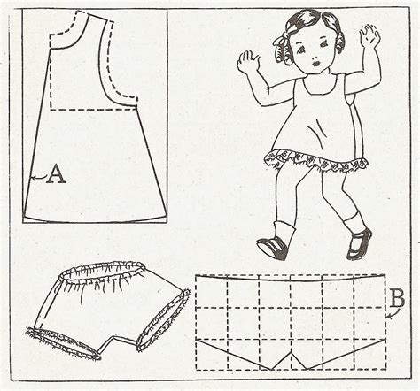 Dress A Doll Template by Sentimental Baby Doll Dress Slip Patterns