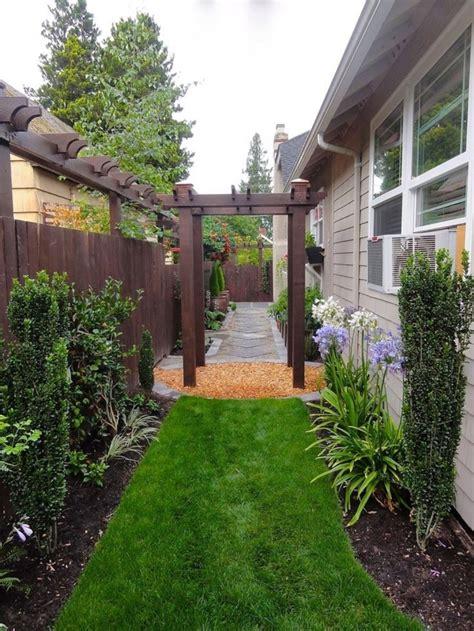 narrow side yard design ideas  side yard landscaping