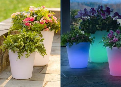 glow in the flower pots small patio furniture 9