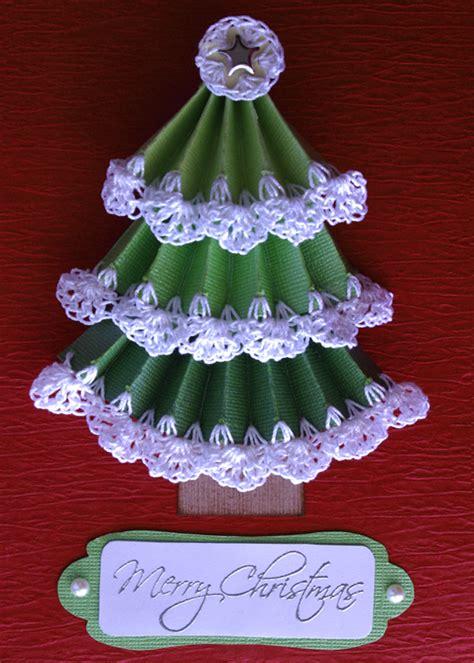 pattern christmas card sharp crochet hook free christmas tree card pattern with