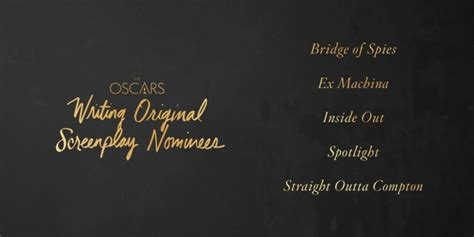 oscars 2016 download our printable movie checklist the download read 9 of the 10 oscar nominated screenplays