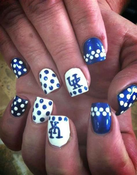 Nail Uk by Of Kentucky Nails Big Blue Nation Ky Wildcats