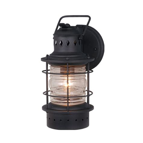 Outdoor Lighting Nautical Shop Cascadia Lighting Nautical 12 In H Textured Black Outdoor Wall Light At Lowes