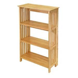 collapsible bookcases 4 tier foldable bookcase winsome target