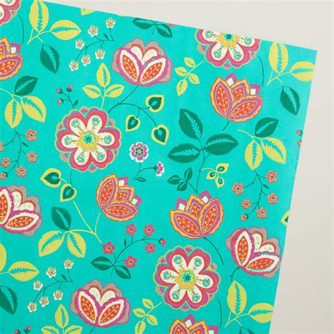 Handmade Wrapping Paper - turquoise louisa handmade wrapping paper rolls 3 pack
