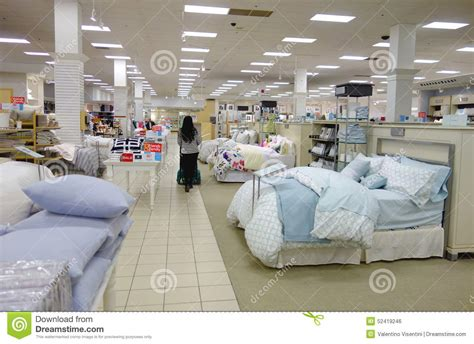 bedding store bedding area editorial photo image of center pillows