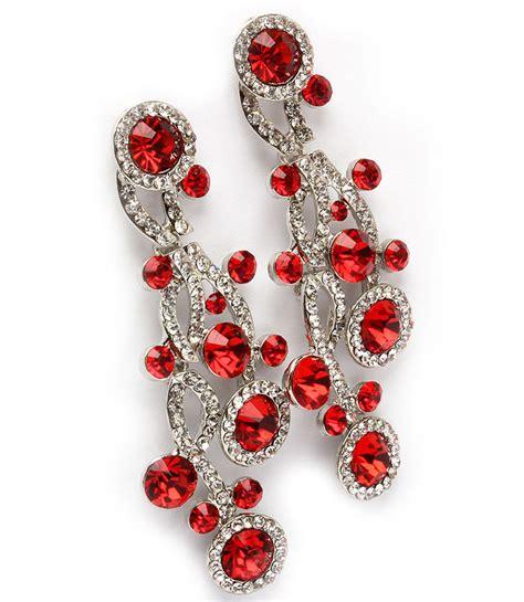 Pageant Earrings Chandelier Clear Rhinestone Bubbles Chandelier