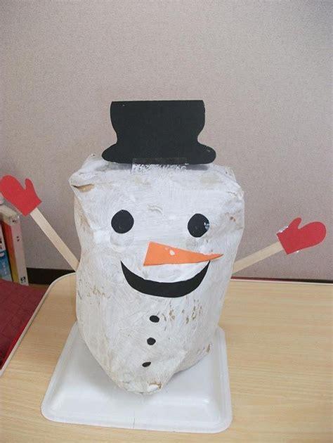 como hacer un snowman de fomi mu 241 eco de nieve con una bolsa de papel manualidades