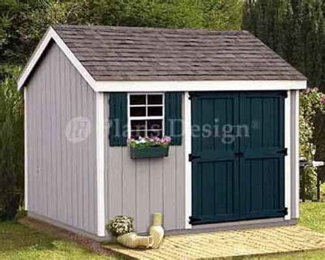 Shed Plans 10 X 8 by Shed Plans 8 X 10 Storage Utility Garden Building