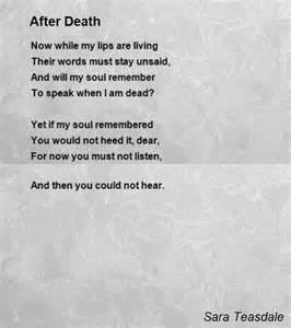 after death poem by sara teasdale poem hunter