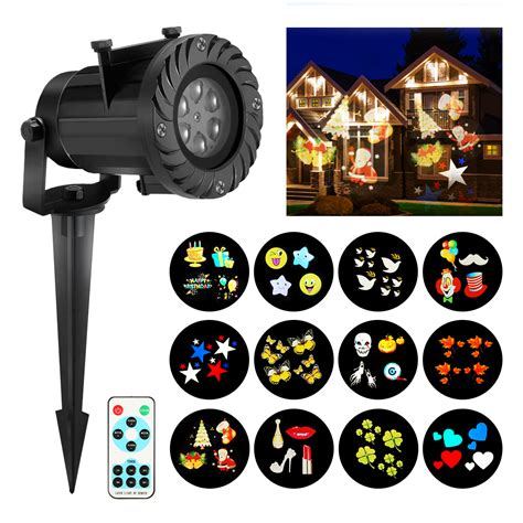 christmas projector lights camtoa 12 pattern led light