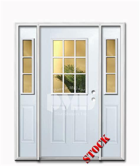 half glass front door 9 lite half clear glass steel exterior door with siedlites