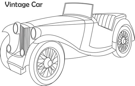 coloring pictures of vintage cars vintage car coloring printable page for kids 2