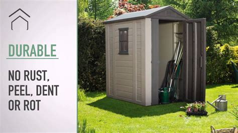 100 keter manor 4x6 shed outdoor resin storage keter factor 4x6 shed youtube