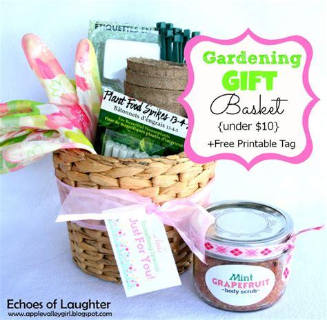 printable tags for gift baskets charlys room gardening gift basket free printable tag