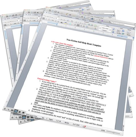 Ms Word Book Template product non fic ms word book templates the book 174