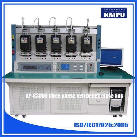 energy meter test bench close link type three phase energy meter test bench from