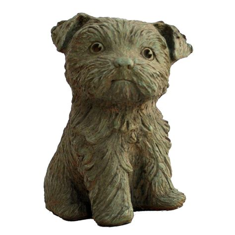 wb yorkies cast puppy garden statue weathered bronze gnpupy wb on popscreen