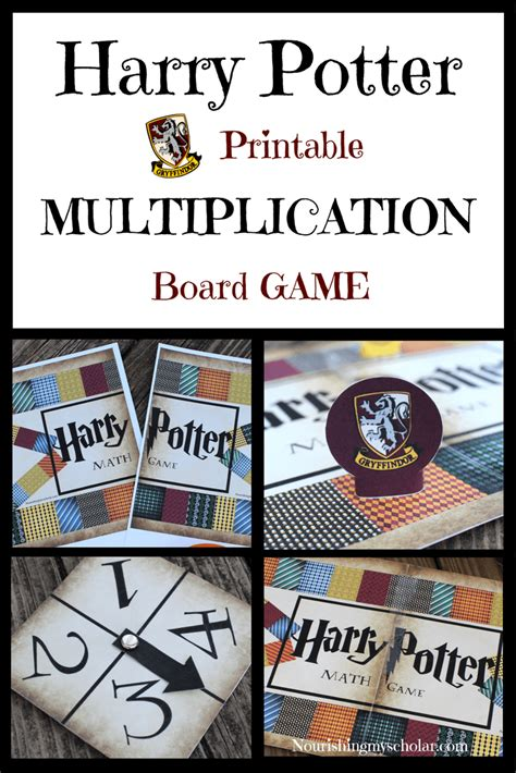 harry potter printable board games wizard math printable multiplication board game math
