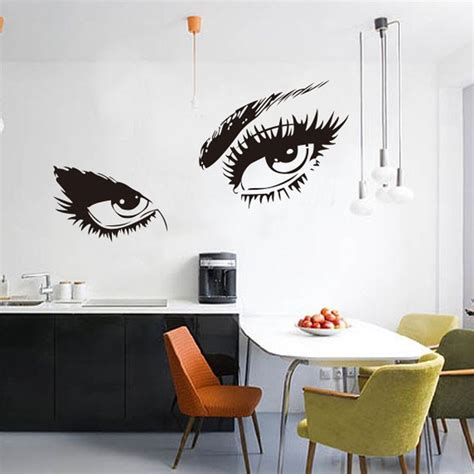 home decor stickers wall aliexpress buy 2016 big wall sticker home decal eyelashes design wall decor