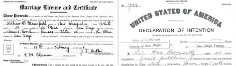 San Diego Marriage Records Records San Diego History Center San Diego Ca Our City Our Story