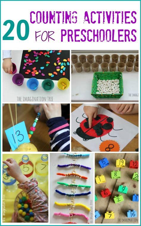 activities for preschoolers 20 counting activities for preschoolers the imagination tree