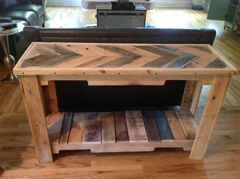 Pallet Sofa Table Wood Pallet Reclaimed Sofa Table 101 Pallets