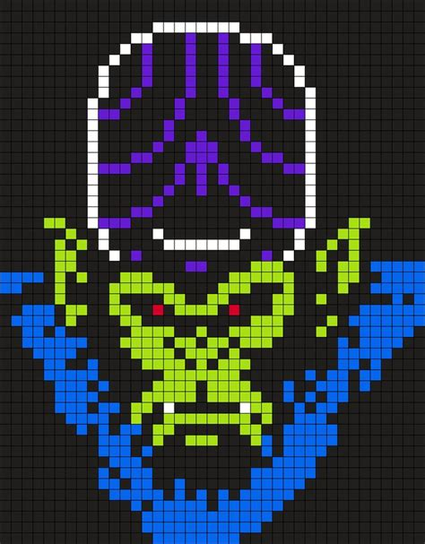 pattern paper beads mojo jojo from the powerpuff girls 39 x 50 square grid