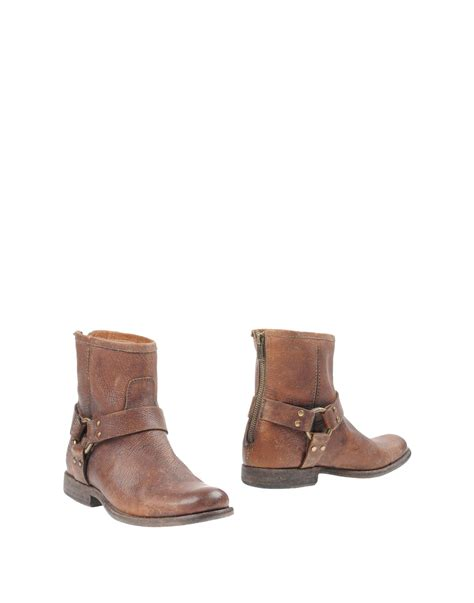 frye ankle boots frye ankle boots in brown lyst