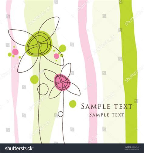 birthday card templates simple birthday card greeting card template stock vector