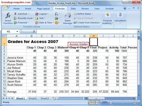 excel 2010 styles and themes online pc learning excel 2010 formula sheet
