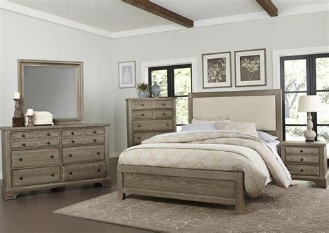 Washed Oak Bedroom Furniture Bedford Washed Oak Upholstered Panel Bedroom Set From Virginia House Coleman Furniture