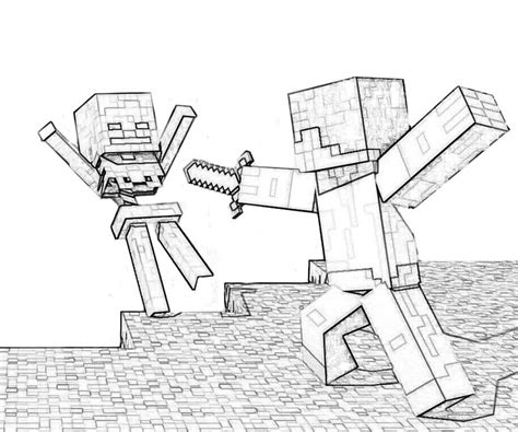 Detailed Minecraft Coloring Pages | printable minecraft coloring pages coloring home