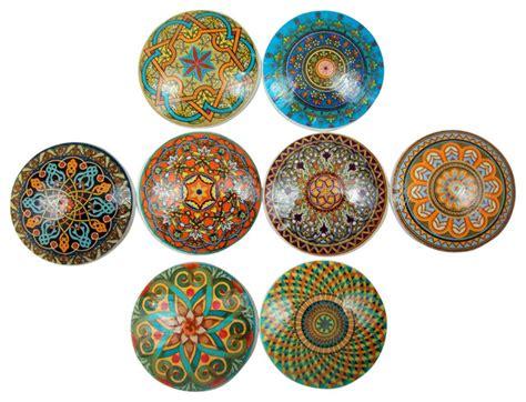 mandalas oversized cabinet knobs 8 set