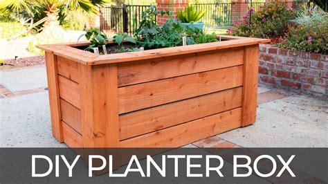 diy raised planter box  hidden wheels  plans