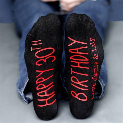 The Birthday Sock by Personalised Happy Birthday Socks By Solesmith