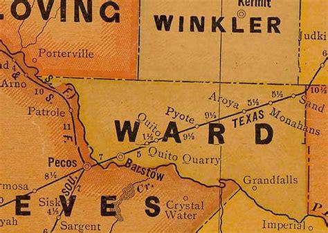 ward county texas map monahans texas ward county seat