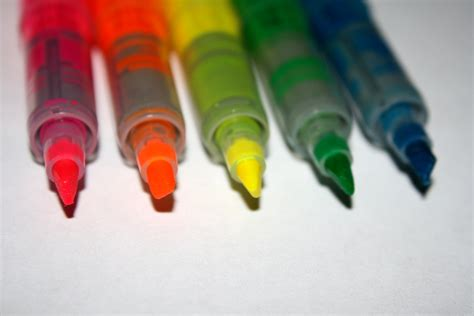 colorful marker pens picture  photograph