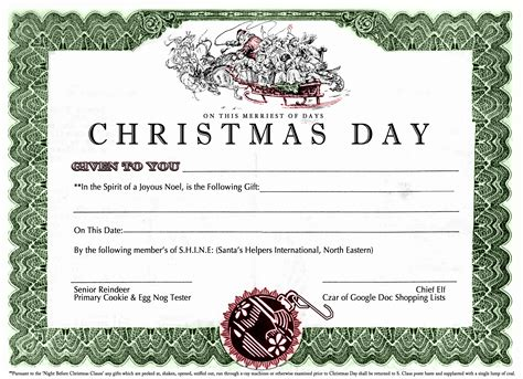 search results for printable christmas certificates chritmas gift certificate new calendar template site