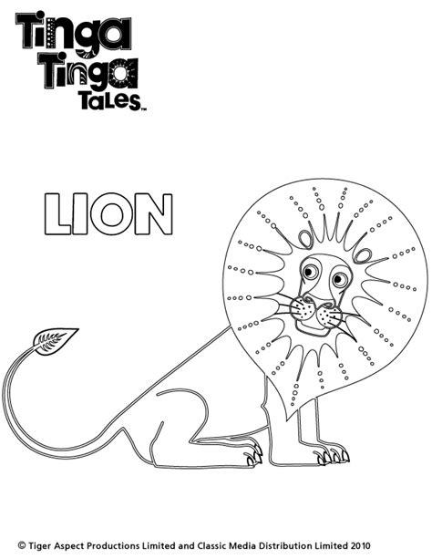 tinga tinga lion colouring scholastic kids club