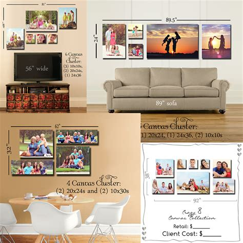photo wall display templates mick luvin photography photoshop wall canvas grouping